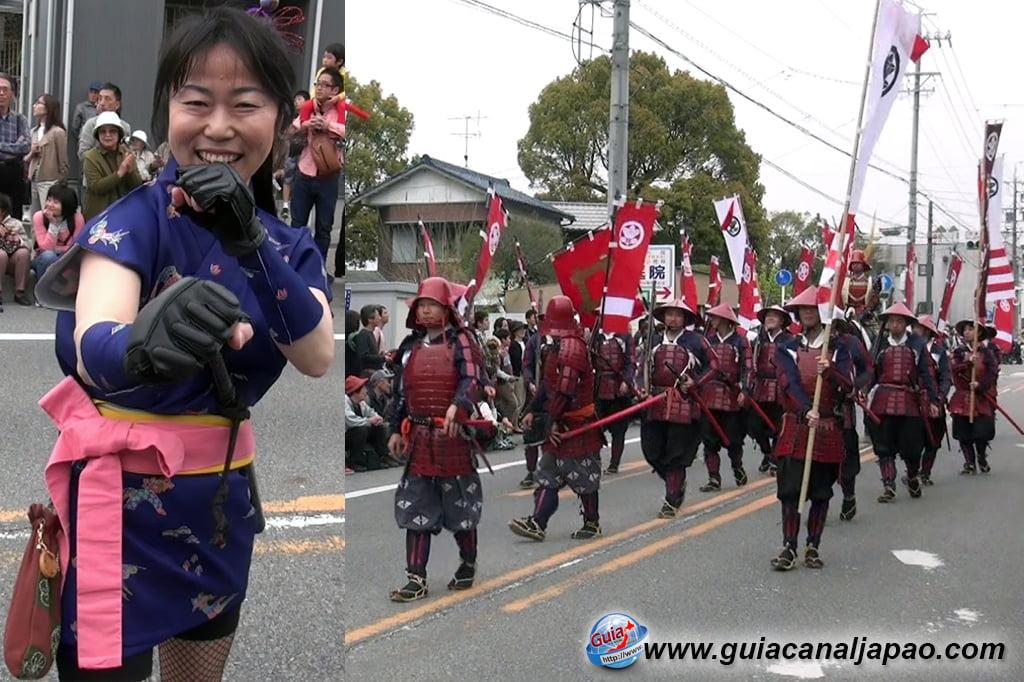 Okazaki Festival das flores de Cerejeira e Desfile do Samurai Ieyasu 5