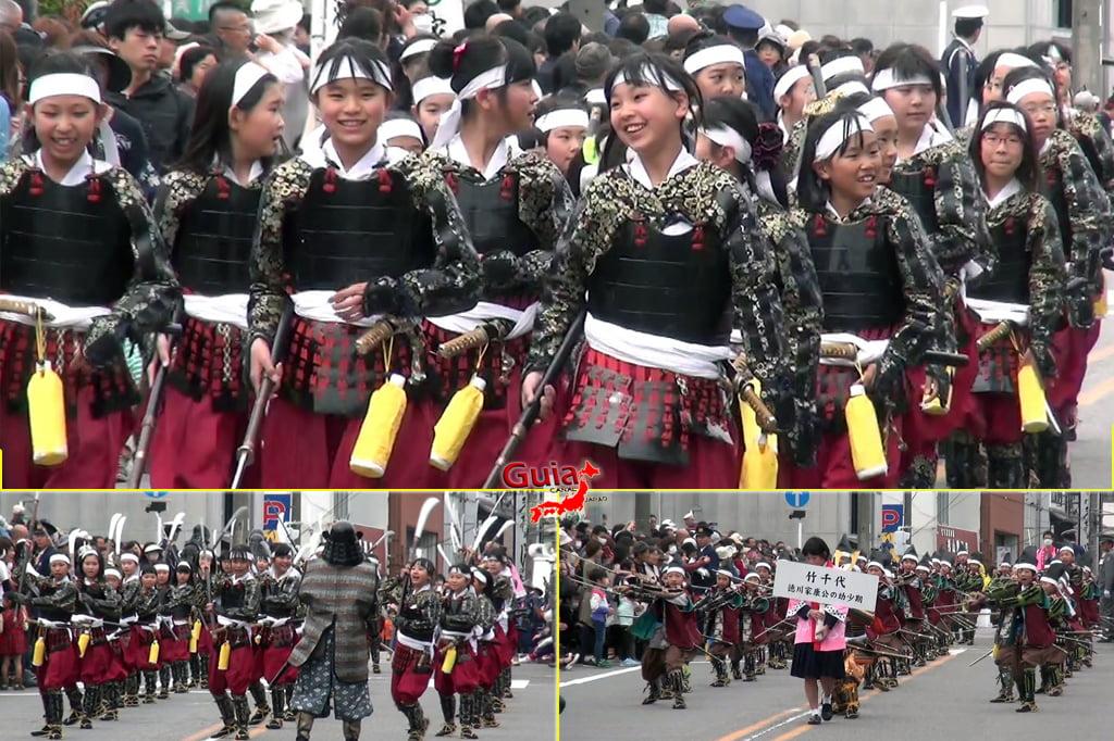Okazaki Festival das flores de Cerejeira e Desfile do Samurai Ieyasu 7