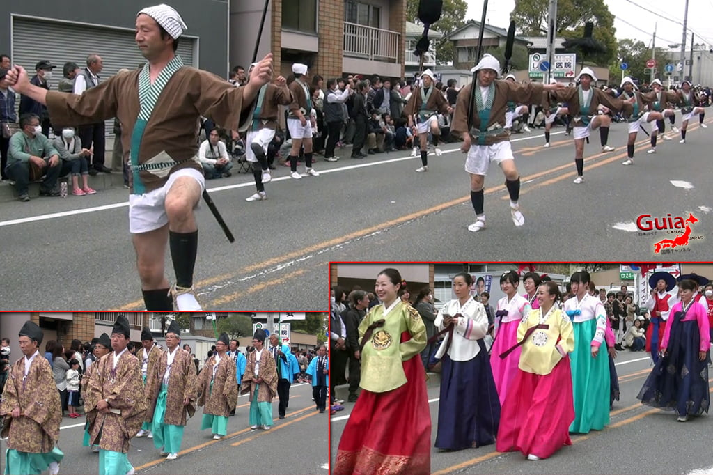 Okazaki Festival das flores de Cerejeira e Desfile do Samurai Ieyasu 9