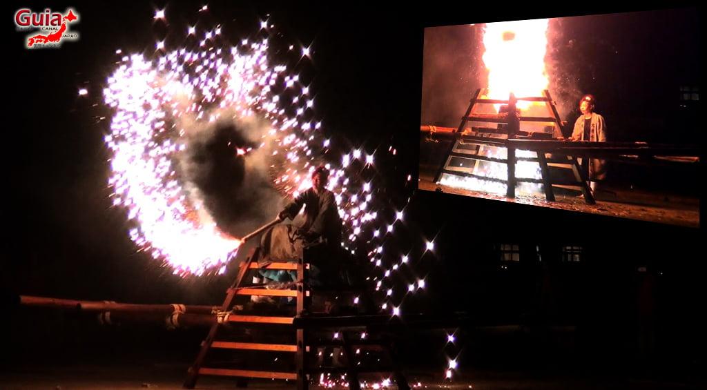 Festival de Outono - Queima de fogos de mão do Santuário Ooshimizu 12