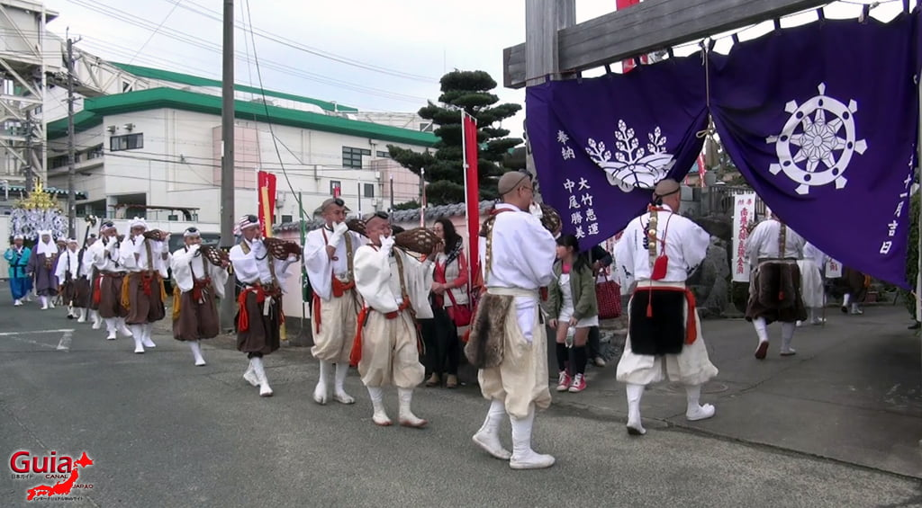 เทศกาล Kashyouzanmai (ไฟศักดิ์สิทธิ์) Toyohashi 4