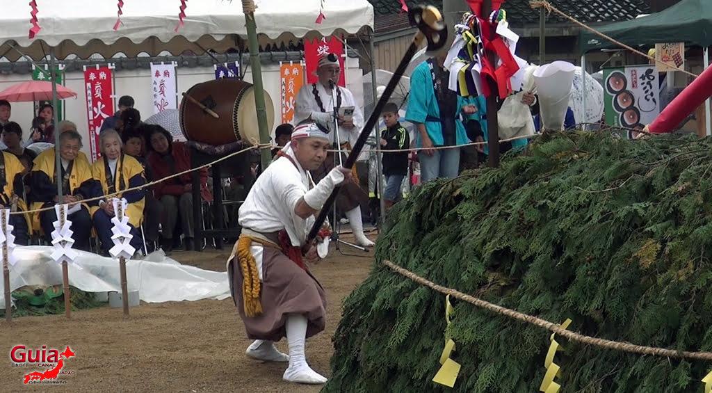 เทศกาล Kashyouzanmai (ไฟศักดิ์สิทธิ์) Toyohashi 23
