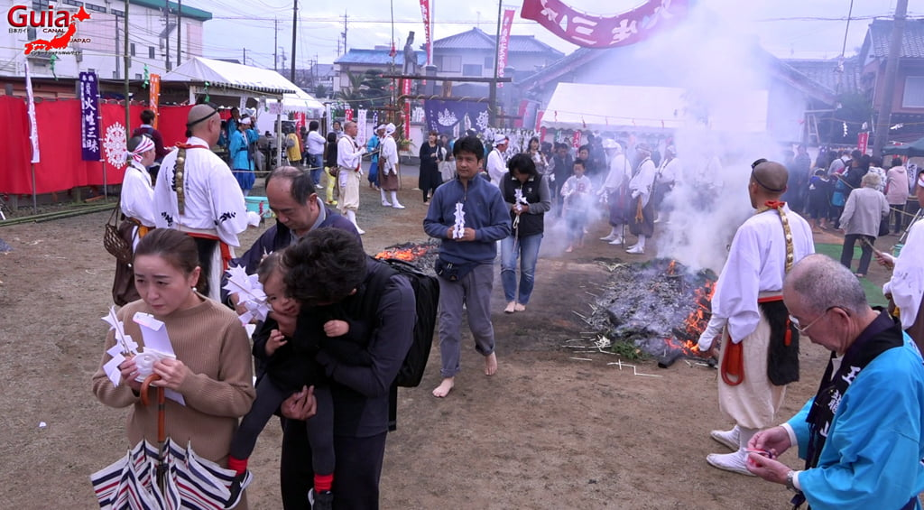 เทศกาล Kashyouzanmai (ไฟศักดิ์สิทธิ์) Toyohashi 39