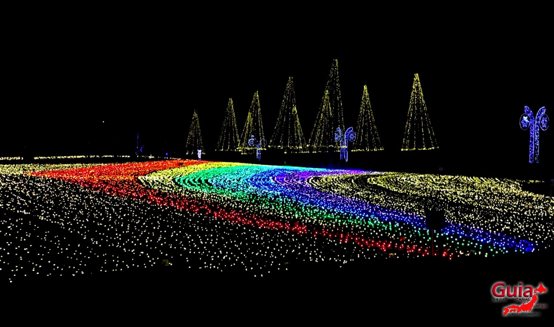 शीतकालीन प्रकाश पार्क किसो सनसेन - Kaizu १
