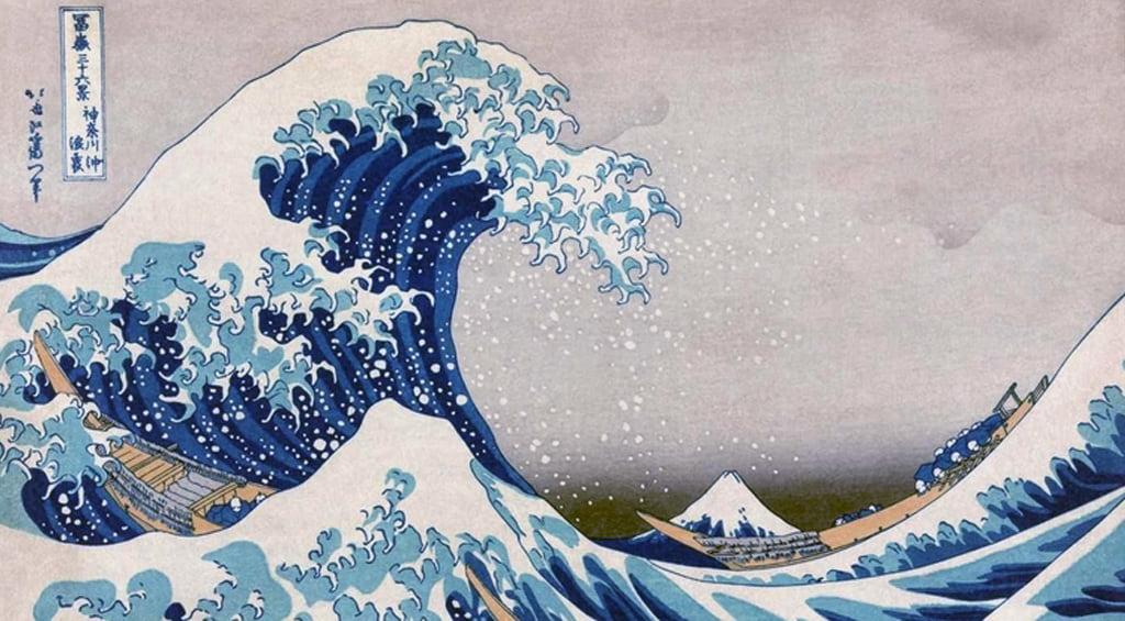 A Grande Onda de Kanagawa - Katsushika Hokusai 1