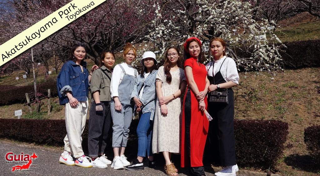 Galeria de fotos de Estrangeiros nos Jardim de Flores de Ameixa (Ume) 3