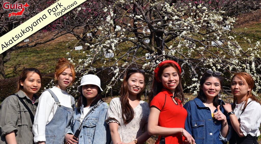 Galeria de fotos de Estrangeiros nos Jardim de Flores de Ameixa (Ume) 4