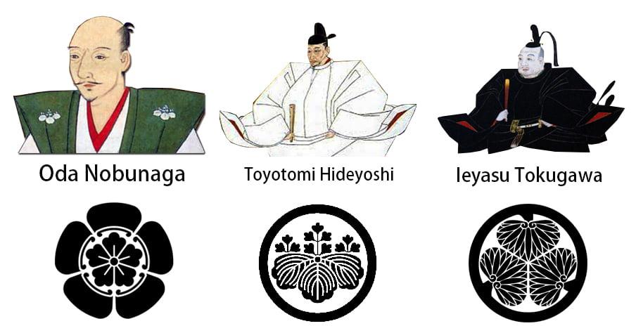 Os três unificadores do Japão são: Oda Nobunaga, Toyotomi Hideyoshi e Ieyasu Tokugawa 1