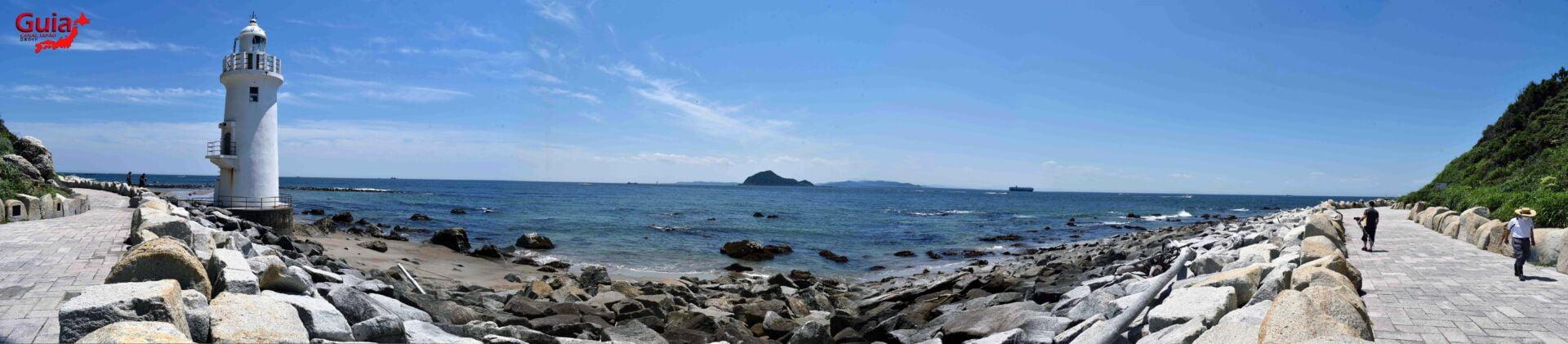 Praia Koijigahama, Farol do cabo Irago, Santuário do Amor e a Pedra de Hiji 12